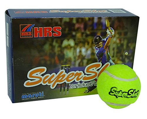 hrs-maruti-supershot-rubber-tennis-cricket-green-ball-pack-of-6-light-weight