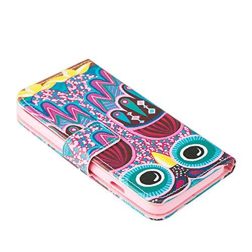 MOONCASE Étui pour Apple iPhone 6 / 6S (4.7 inch) Printing Series Coque en Cuir Portefeuille Housse de Protection à rabat Case Cover LD20 a12