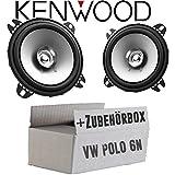 VW Polo 6N - Lautsprecher Boxen Kenwood KFC-S1056-10cm Koax Auto Einbauzubehör - Einbauset