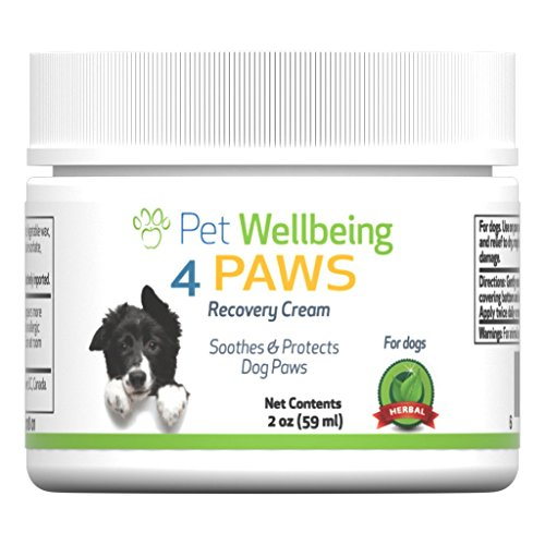 Pet Wellbeing 4 Pattes + Raccommoder Protéger La Crème - Chien Baume pour Patte Pattes De Chien - Patte Cantonnier pour Pattes Sèches Ou Fissurés - 2 oz