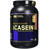 Optimum Nutrition Gold Standard Casein Powder, Strawberry Delight, 909 g