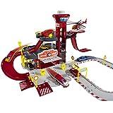 #0107 Parkgarage Feuerwehr Center 3 Etagen mit 5 Fahrzeugen Creatix 72 cm • Autogarage Spielzeug Garage Parkhaus Auto
