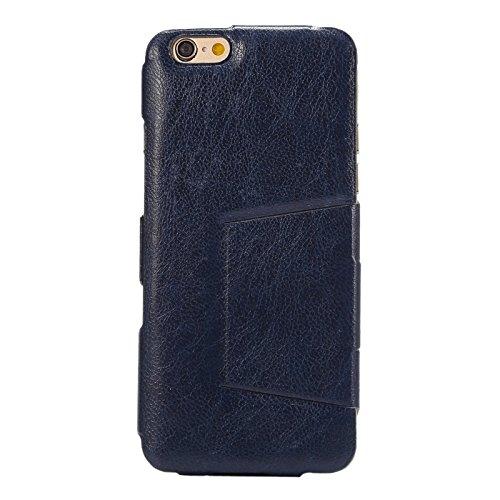 Wkae Case Cover Horizontal Flip Ultra Thin-Leder-Kasten mit Halter für iPhone 6 &6S ( Color : White ) Dark Blue