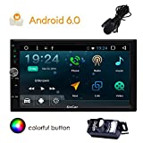 Eincar 7' Android 6.0 Marshmallow Car Stereo Double Autoradio Din Radio Dash écran tactile 1080P Video Player Navigation Quad-Core GPS Sat Nav, Wifi Bluetooth RDS support USB / SD / 3G / 4G / OBD2 / Apple Jouer MirrorLink (Caméra de recul inclus)