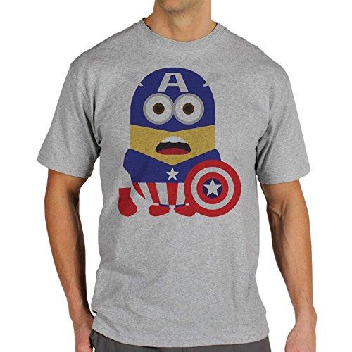 Avengers Minions No Background Surprised Herren T-Shirt Grau