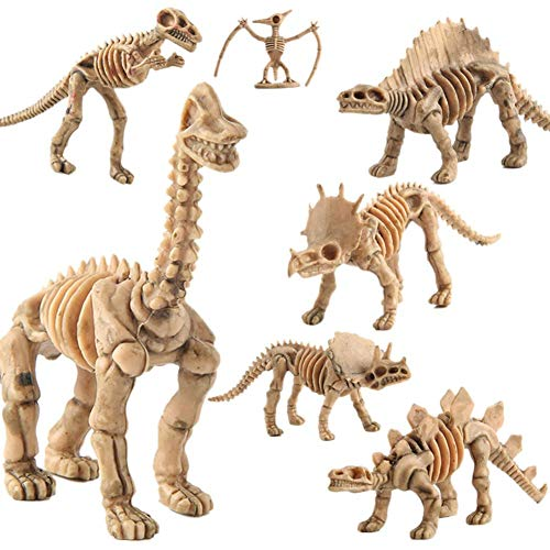 12 Stücke Dinosaurier Fossil Spielzeug - Dinosaurier Knochen Fossilien Skelett Für Kinder Jungen Mädchen