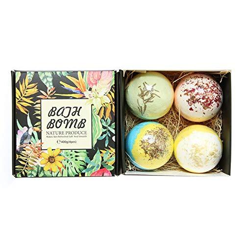 Körper-Öl Essentials Kit (Bad Bomben Set, 4 STÜCKE Rose Badesalz Ball - Hautpflege ätherisches Öl Bad Bubble Gift Kit (zufällige Farbe))