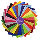 #7: AsianHobbyCrafts Felt sheets (110 x 110mm) : 25 sheets : 25 colors