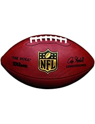 "Wilson NFL ""Duke"" Game Leather - Balón de fútbol americano, color marrón, talla única"