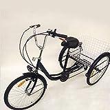 Xian Triciclo per Adulti 3'con 3 Ruote Triciclo per Anziani a 6 velocità