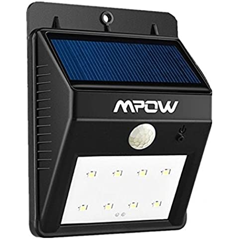 Mpow® Solar Powerd Wireless 8 LED Security Motion Sensor Light, Outdoor Wall/garden Lamp / Motion Sensor-Detector Activated / For Patio, Deck, Yard, Garden, Home, Driveway, Stairs, Outside Wall, With Dusk to Dawn Dark Sensing Auto On / Off Function
