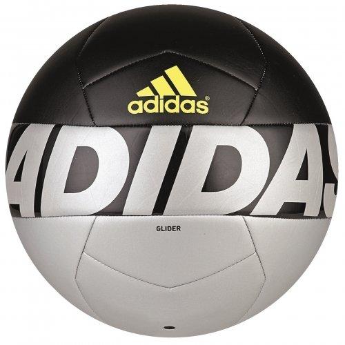 adidas Ace Glid - Balón de fútbol, color plata / negro / lima, tamaño 5