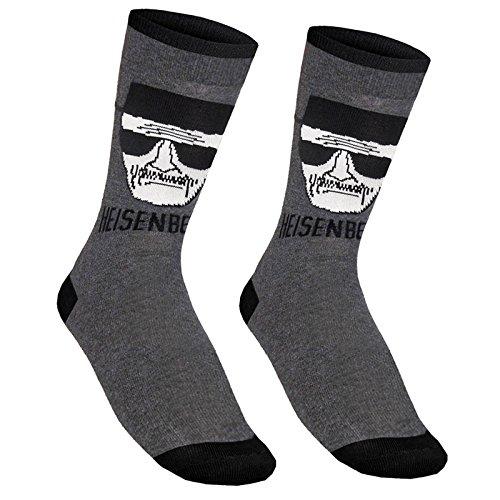Breaking Bad officiel - 1 paire de chaussettes pour homme - effigie de Walter White, Vêtements / Tee shirts