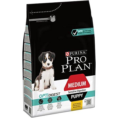 PRO PLAN Medium Puppy Sensitive Digestion avec OPTIDIGEST Riche en Poulet - 3 KG - Croquettes pour chiots de taille moyenne