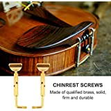 Violin Chinrest Chin Rest Screw Clamp Fiddle Parts 2Pcs DIY Brass Portable Violin Pats Fittings Chinrest Screw Instrument Accessories
