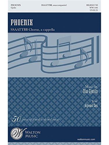 Ola Gjeilo: Phoenix (Agnus Dei). Partitions pour SATB, Chorale