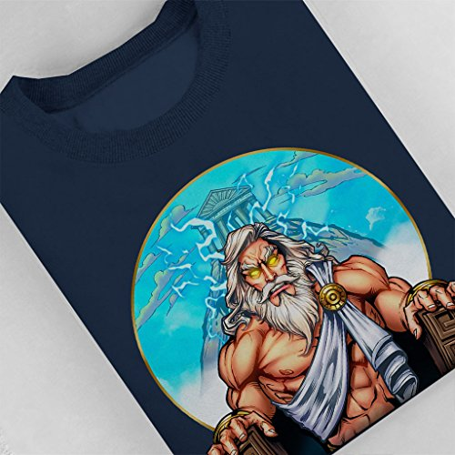 Zeus On The Throne Women's Sweatshirt Navy blue