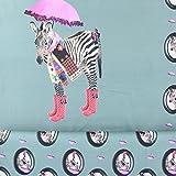 Jersey Stenzo Digitaldruck Paneele Zebra mint 1,50m Breite