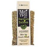 Premium Kräutermischung aus Kreta (Griechenland) für griechischen Salat - Oregano - Basilikum - Grüne Minze - Hochwertige Gewürze - Natürliche Kräuter - 35g Nachfüllpackung
