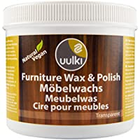 Uulki Furniture Wax & Polish - Provides a Water Repellent Layer, Protects against Stains and Abrasions – Eco-friendly, Natural & Healthy to work with 100% plant-based / Vegan Wood Care (500ml, colourless)
