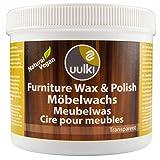 Uulki® Möbelpolitur 0,5 L – Möbelwachs & Politur Pflege für Holz Möbelpflege – Holzpflege natürlich & gesundheitsschonend in der Anwendung – Pflegemittel für Möbel ist 100% pflanzlich / Vegan (500ml, farblos)