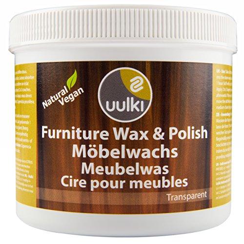 Natürlich Vegan (0,5 L) - Möbelwachs & Politur Möbelpflege Holzwachs für innen - Gesundheitsschonende Holzpflege (farblos) ()