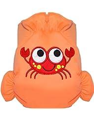 Eliott Et Loup Crabe Maillot de bain couche à Scratch ajustable Enfant 0-3 ans Orange Taille Unique Séchage Rapide