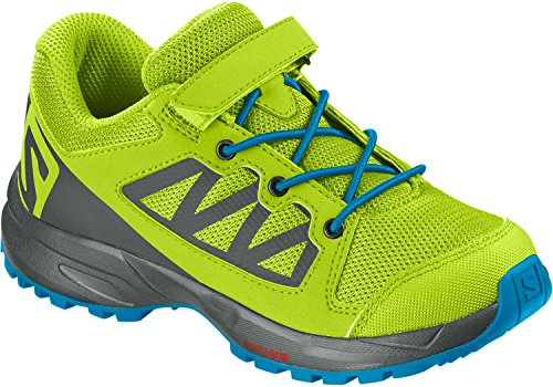 Salomon Kinder XA Elevate K, Trailrunning-Schuhe, grün (acid lime / urban chic / hawaiian surf), Größe 30
