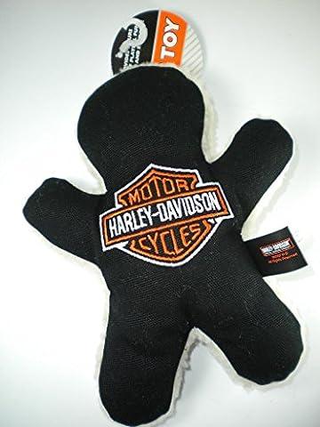 Harley-Davidson FLEECE & Leinwand Man Hundespielzeug, 17,8cm