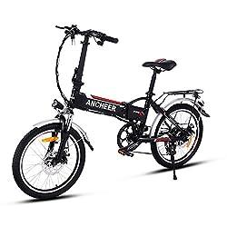 cooshional 20 Zoll Elektrofahrrad Faltbar Mountainbike E-Bike Klappfahrrad Pedelec 36V 250W Li-Ion Akku Weiß