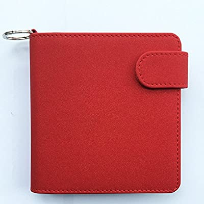 Anti Scratch Full Protective Wallet Case for iQOS PU Leather Carrying Case Box Card Holder Pouch Bag for iQOS Electronic Cigarettes+Keychain (Red) by JOMA E-Shop