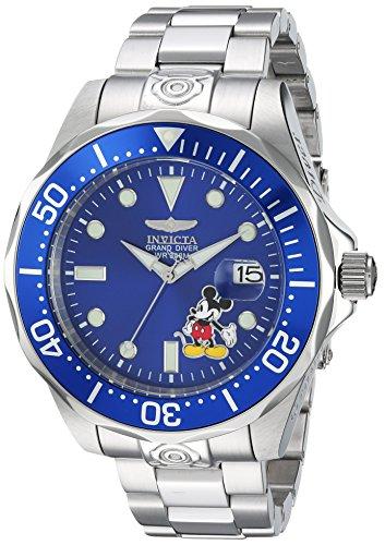 Invicta 24497 Disney Limited Edition - Mickey Mouse Montre Homme acier inoxydable Automatique Cadran bleu