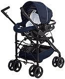 Chicco Trío Sprint - Sistema de paseo y viaje 3 en 1, capazo/carrito/coche, color azul