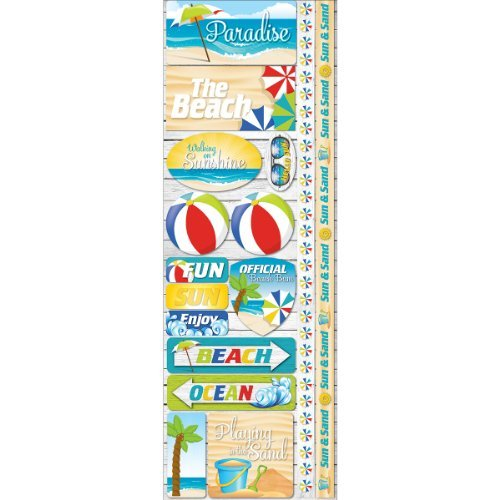 Reminisce Signature Series Cardstock Combo Stickers, 4.25 by 12-Inch, Paradise by Reminisce