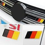 Germany Flag Emblem Badge Fit Germany Car Front +Rear 2 PCS