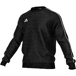Das adidas Core 18 Sweatshirt bereichert deinen sportlich, lässigen Lifestyle mit schlichtem Design und bequemem Tragekomfort.  Weiches Baumwollmischgewebe hält dich dank der angerauten Fleece-Innenseite an kalten Tagen wohlig warm. Das klassische Sw...