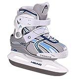 Head Missy - Patines de patinaje sobre hielo para niña (ajustables) multicolor blanco, azul Talla:26-31
