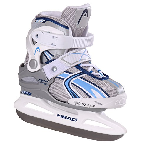 Head Missy - Patines de patinaje sobre hielo para niña (ajustables) blanco, azul Talla:26-31