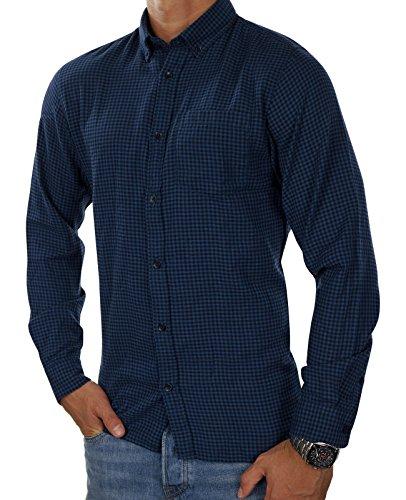 JACK & JONES Herren Kurzarm Langarm Hemd Trachtenhemd jjcoFIX jcoTIM jorJOHAN Kariert Slim Fit Blau (Navy Blazer Fit:SLIM jorJOHAN LS)