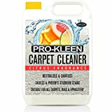 5L of Pro-Kleen x Mylek Ultima+ Professional Carpet Shampoo - Citrus Fragrance - High Concentrate Cleaning Solution - Suitable For All Machines