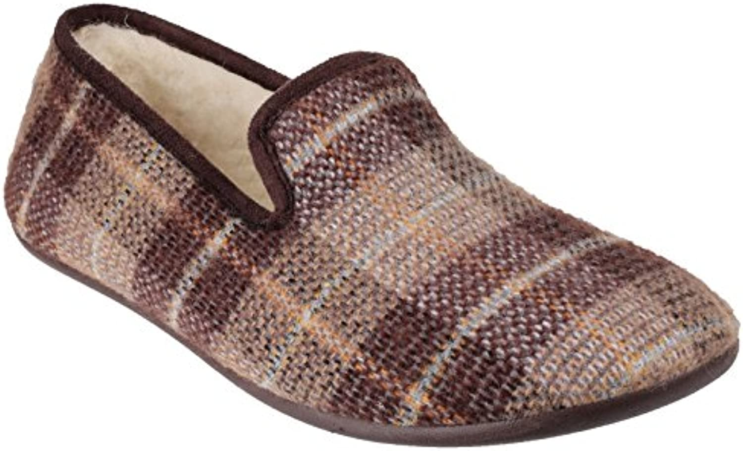 Cotswold Mens Wallis Lightweight Textile Faux Suede Slip on Slippers -