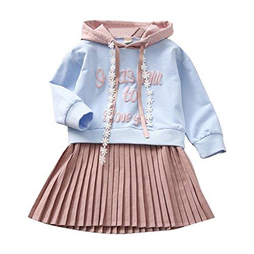 Hoodie Kleid Plissee Outfit kausalen Freizeit One Piece Outfit für 2-11 Jahre Alt ()