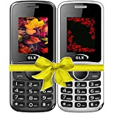 GLX W5, Basic Feature Mobile Phone, Combo Of 2 (Black+White)