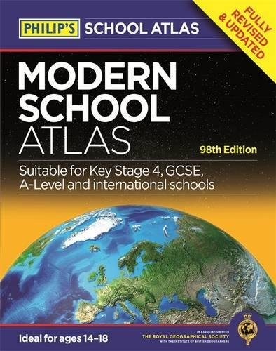 Modern school atlas - 98ª edición (Philips Atlas)