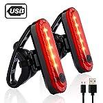 51pUJiFaJ8L. SS150 Volcano Eye Luce Posteriore per Bicicletta, 2 Fanali Posteriori LED Ricaricabili con USB Ultra Luminosi Impermeabili…