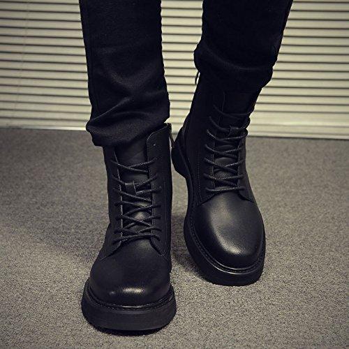 HL-PYL-Gli uomini di Martin Stivali Stivali in versione coreana di stivali in pelle black