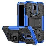 Huawei Mate 10 Lite Hülle, GOGME Rugged TPU / PC Hybrid Armor Schutzhülle. Anti-Scratch PC Rückwand Schale + Stoßfeste TPU Innenschutzabdeckung + Faltbarer Halterungen, Blau