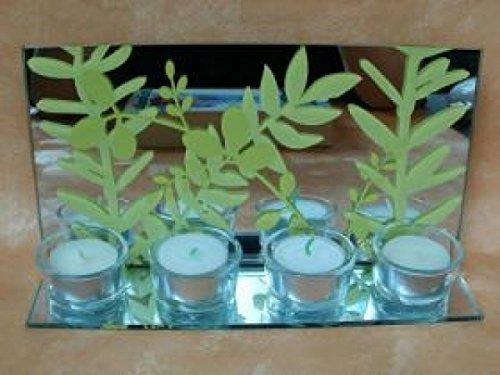 Preisvergleich Produktbild Teelichthalter - Blatt für 4 Teelichter