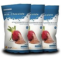 Feinste belgische Milchschokolade Beutel 900g x 3 - Schokoladenbrunnen Schokoladen