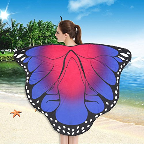 weicher Stoff Schmetterlingsflügel Schal Strand Badetücher Fee Damen Nymph Pixie Kostüm Zubehör (A) ()